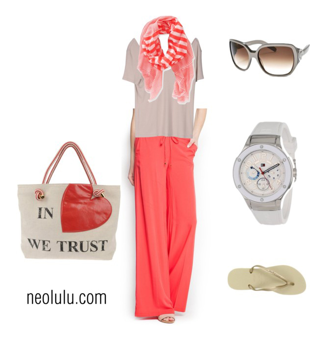 Coral Weekend   Comfy Relaxed Outfit Idea