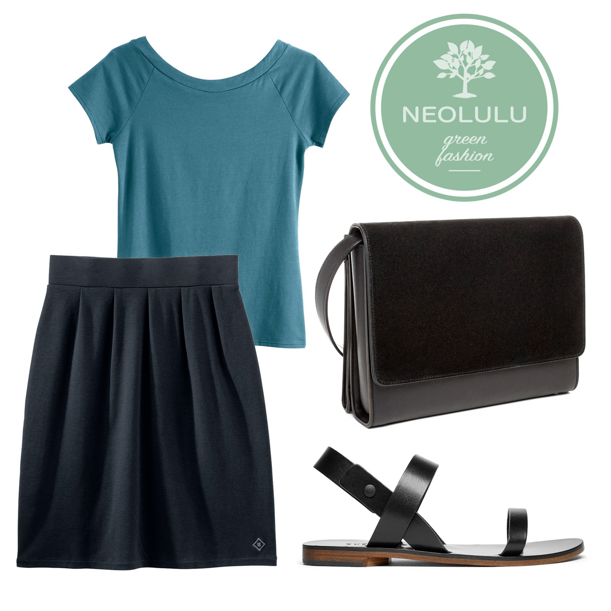 Everyday Chic: Top & Skirt Outfit with Sustainable Organic Cotton