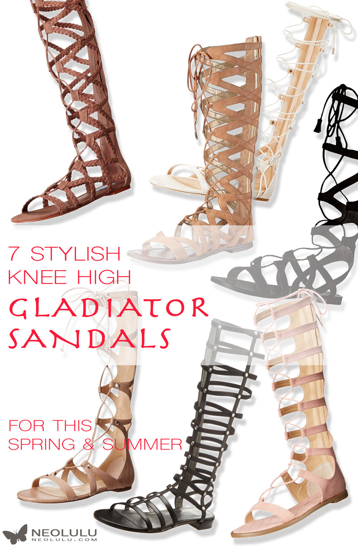 8260537d4f14 7 New Knee High Gladiator Sandals That Will Make You Look Fabulous This  Summer
