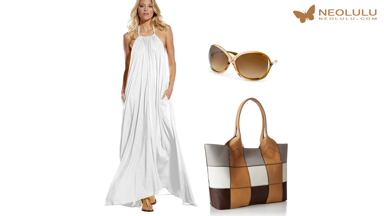 August Hit: White Maxi Dress Summer Outfit