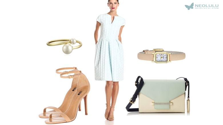 Spring Pastels: Light, Fresh and Feminine Dress Outfit