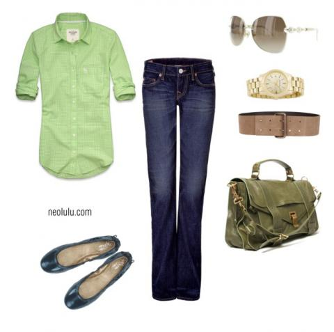 Fresh greens and deep blues – love the contrast!