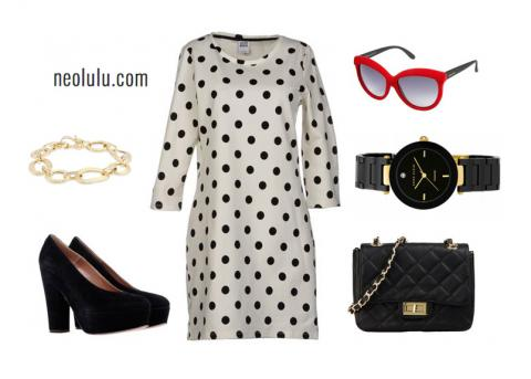 Polka Dot Retro Chic – Spring/Summer Dress Outfit
