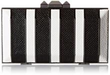 BCBG Estela Striped Metal Hard Clutch