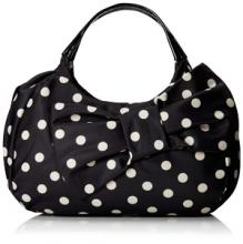 Kate Spade New York Petal Drive Kerra Shoulder Bag in Black & White Polka Dot