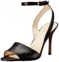 Nine West Women's Flicker Leather Dress Sandal in Black