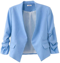 PAKULA Women's Folding Sleeve Office Blazer