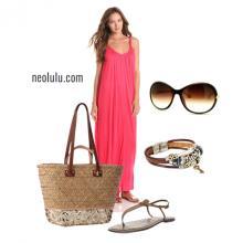 Raspberry | Maxi Dress Summer Outfit Idea