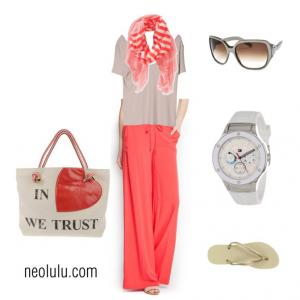 Coral Weekend | Comfy Relaxed Outfit Idea