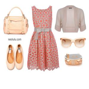 Eye Candy | Peachy Coral Dress Summer Outfit Idea