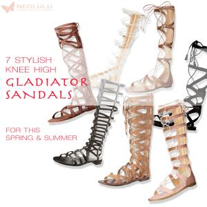 7 New Knee High Gladiator Sandals For This Summer