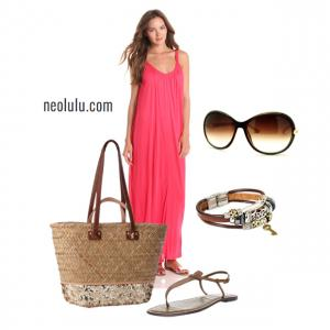 Raspberry | Maxi Dress Summer Outfit Idea