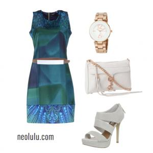 Sapphire Blue | Elegant Summer Party Outfit Idea